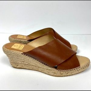 Manna Leather Wedge Slide In